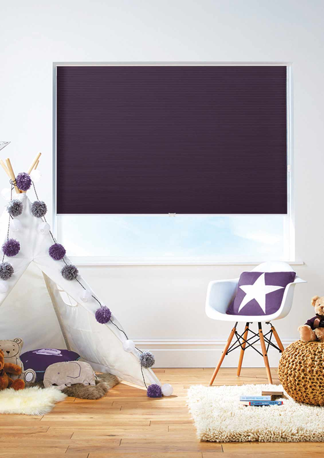 Honeycomb Blinds -  DARBY PLUM