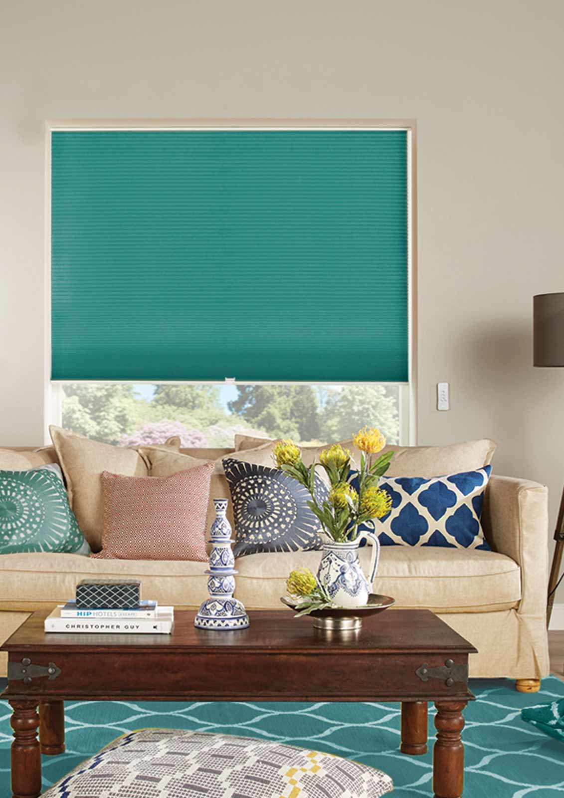 Honeycomb Blinds -  DARBY TEAL