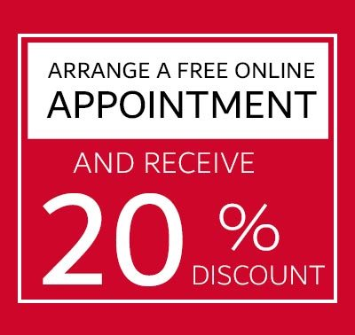 Arrange an Appointment Online get 20% Discount