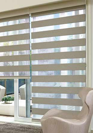 Wood venetian blind - Loft House Tawny and Jet Tapes