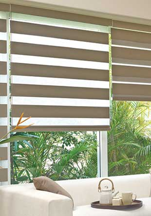 Wood venetian blind - Pearl with Cotton Tapes
