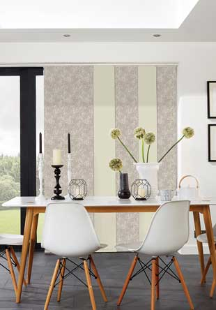 Panel Blinds - Forest Champagne