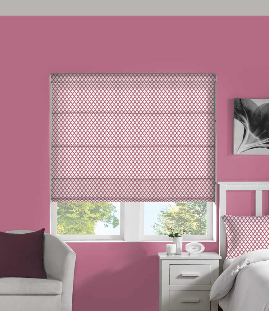 Roman Blind - Criss Cross Bubblegum