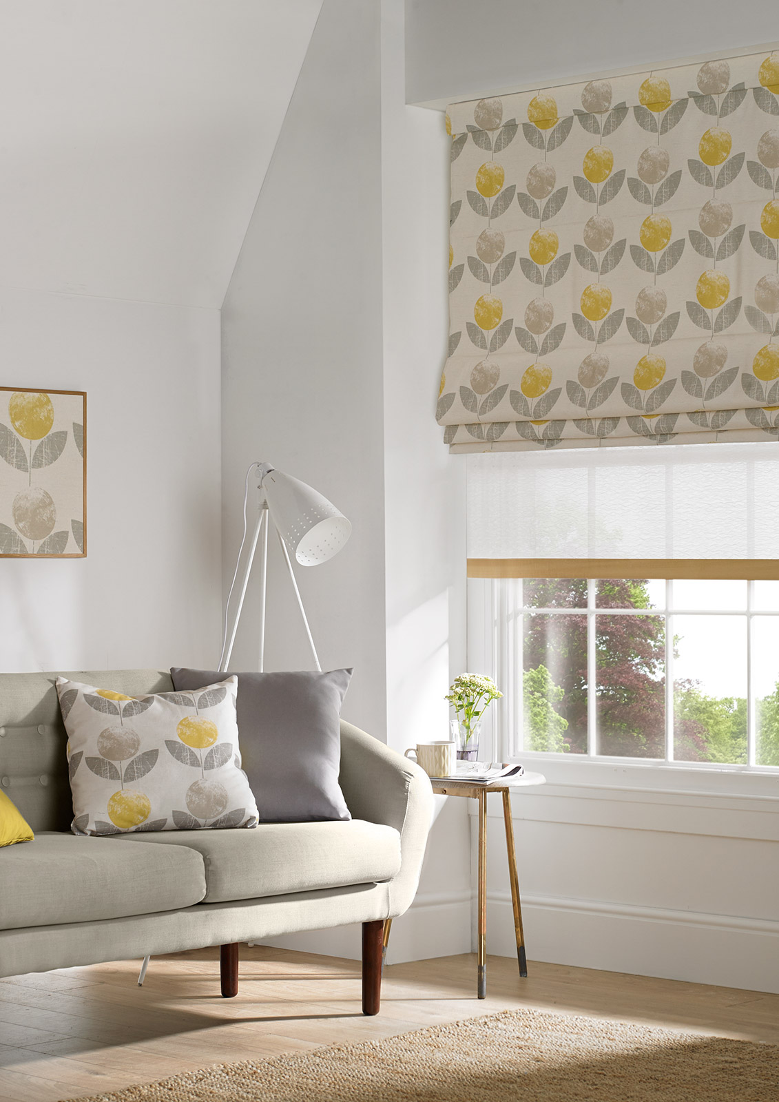 Roman Blind - Mimosa Layers