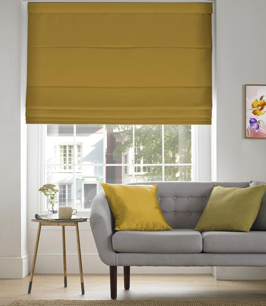 Roman Blind - Plains Mustard