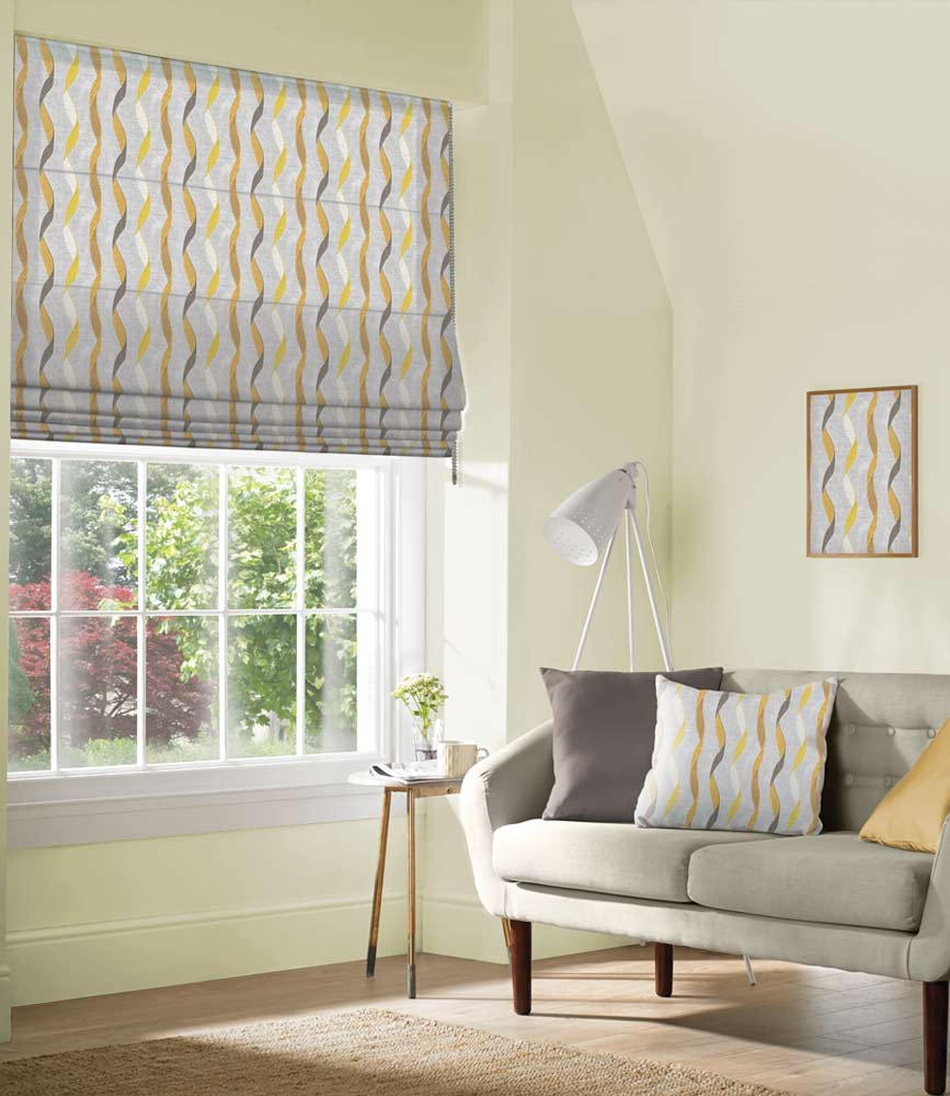 Roman Blind - Ribbon DIjon