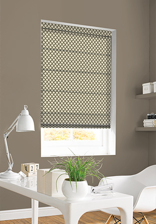 Roman Blind -Criss Cross Mocha