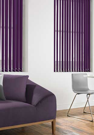 Vertical Blinds - Latina Aubergine