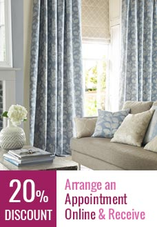 50% Off on selected curtains and Roman Blinds fabrics