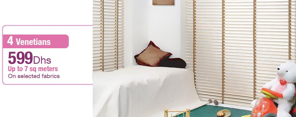 Aluminium Venetian blinds offer