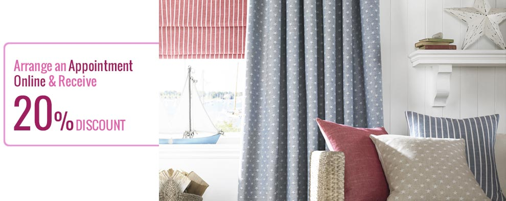 50% Discount on selected curtains & roman fabrics